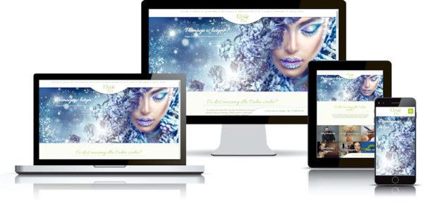 Strona internetowa dla salonu kosmetycznego, fryzjera, SPA