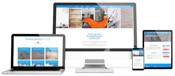 Strona internatowa dla firmy handlującej farbami termoizolującymi