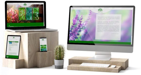 Strona dla firmy zajmującej się projektowaniem ogrodów