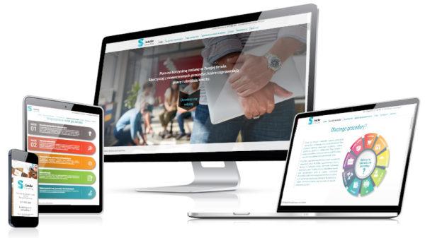Strona internetowa dla firmy zajmującej się tworzeniem procedur.