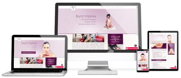 Strona internetowa dla salonu urody