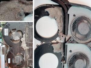 Kurz w układzie chłodzenia laptopa