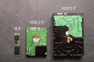 """Dysk SDD M.2, HDD 2,5"""", HDD 3,5"""""""